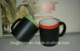 Taza de café del cursivo de la taza del mensaje de la taza de la tiza