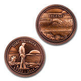 Metal Printed Lady Liberty Souvenir Challenge Coin