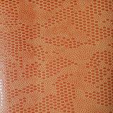 O couro Shaped oval gravado do plutônio de Microfiber da camurça para sapatas ensaca (HS-M1701)