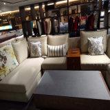 Софа самомоднейшей конструкции секционная с высокосортной покрашенной пряжей тканью жаккарда для живущий мебели Fb1113 комнаты