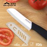 Couteau de cuisson durable Couteau de cuisinier en céramique Santoku de 5 po