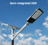 luz de calle solar Semi-Flexible de la energía de 15-120W LED con el panel ajustable