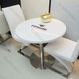 Redonda jantar da pedra do mármore da qualidade superior com logotipo (T1702242)