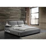 Cama de tela de color gris para uso de dormitorio (FB8036B)