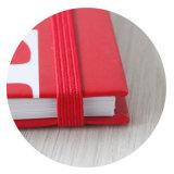 Изготовленный на заказ внутренняя тетрадь бумаги печатание спиральн с эластичной резиновой лентой