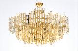 Edelstahl-moderne hängende Kristalllampe für Hauptgebrauch