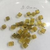 Placa amarilla 4*4 del diamante del solo cristal de Hpht