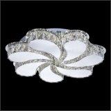 Cristal avec l'éclairage acrylique blanc de plafond de mode d'ombre