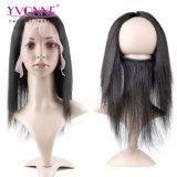 Frontal brasiliano del merletto dei capelli umani 360 con la fascia elastica