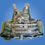 [كمو] صدرة صامد للرصاص عسكريّة تكتيكيّ مع [أن-بوينت] إطلاق سريعة و [مولّ] شريط منسوج نظامة