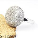 고품질 형식 보석 다이아몬드 반지 은 925