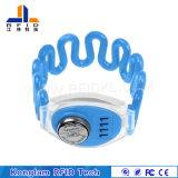 Wristband personalizado do silicone da tela de seda RFID para serviços postais