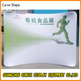 étalage en aluminium de drapeau de stand de 10FT de forme portative de courbe