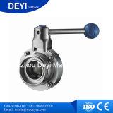 304 / 316L sanitaire en acier inoxydable vanne papillon (DYT-01)