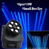 6PCS*10W LEDの小さい蜂の目が付いている移動ヘッドビームライト
