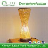 Schreibtisch-Lampen-Tisch-Lampen-Anzeigen-Licht mit Bambuslampenschirm