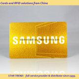Schede dorate con il materiale del PVC delle strisce della firma & della striscia magnetica
