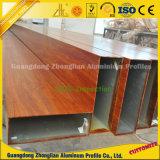Profil en aluminium d'extrusion de guichet et de porte avec des couleurs extérieures faites sur commande