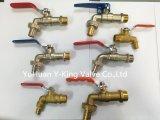 Válvula de ángulo sanitaria del control de cobre amarillo con el precio de fábrica (YD-5005)