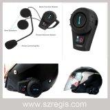 Intercomunicador sin hilos 500 contadores de lleno - receptor de cabeza impermeable a dos caras de Bluetooth del casco