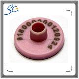 бирка уха скотин животного идентификации 134.2kHz RFID круглая