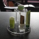 싱크대 둥근 명확한 미러 백색 아크릴 장식용 진열대, Makup 조직자, Skincare는 조직자를 병에 넣는다
