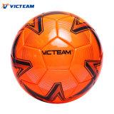 Balón de fútbol parejo vivo de alto nivel de cuero genuino
