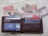 Бумажник с материалом Cowhide первого слоя, бумажник людей неподдельной кожи человека кожаный