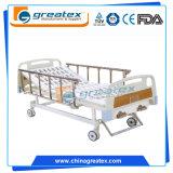 低価格の病院の安く2不安定な手動医学のベッド
