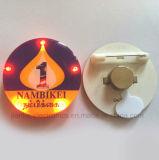 Feliz Navidad ronda LED parpadeante Button Pin con logotipo impreso (3569)