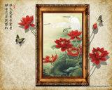 يصمّم زهرات جميل أحمر في الإناء زهر يغضّن - لوح لأنّ ال [ستثدي رووم] زخرفة نموذج رفض.: [ول-011]