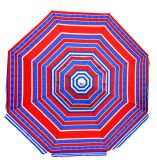 6.5 parapluie de plage d'Upf du polyester 100 de pi avec l'évent et l'inclinaison