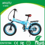 20 بوصة يطوي فتى سمين درّاجة كهربائيّة