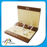 Stand acrylique optique en bois fait sur commande d'exposition d'étalage de montre