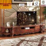 Роскошный высеканный шкаф стойки TV Antique/TV (GSP13-006)
