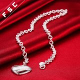 女の子のための銀によってめっきされる方法デザイン無限中心の吊り下げ式のネックレス