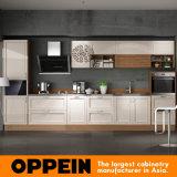 Oppein moderna laca mate laminado gabinete de cocina de madera (OP16-024)