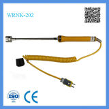 Kundenspezifischer K-Typ Oberflächen-Thermoelement mit Griff und mini gelbem Stecker