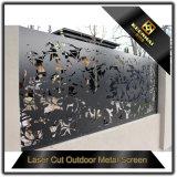 Декоративным пефорированный алюминием отрезанный лазером напольный экран металла
