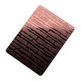 Het antieke Vierkante Patroon Zwarte PVD bedekte de Roestvrij staal In reliëf gemaakte Vervaardiging van Blad met een laag 304