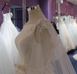 Vestido de casamento inferior da princesa Cetim Parte superior Tulle