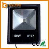 AC85-265Vによってダイカストで形造られるアルミニウム防水IP67は50W穂軸LEDのフラッドライトを細くする