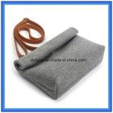 Подгонянный чувствуемый шерстями вскользь мешок посыльного, мешок плеча прочных повелительниц одиночный с регулируемым поясом PU кожаный