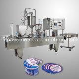 Enchimento do copo e máquina da selagem para o iogurte