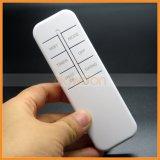 Aaa-die batteriebetriebene 6 Schlüssel-weiße Farbe IR-passen Fernsteuerungsstützaufkleber-Code an