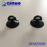Cuvettes de Vacuumsuction de matière plastique du noir 36mm avec le trou