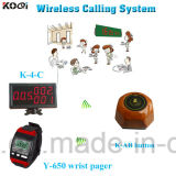 Pager Button and Display Receiver Restaurant Call System (K-4-C+Y-650+K-AB)