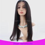 고품질 금발 브라질 머리 Virgin 인간적인 가득 차있는 레이스 가발
