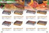 Bruciatori esterni di migliori prezzi i sei dirigono il barbecue della griglia del gas del BBQ