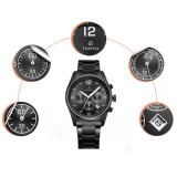 L'uomo d'acciaio di lusso del cronografo guarda l'orologio Analog 72182 del quarzo